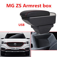 For MG ZS Armrest box central Store content box cup holder ashtray interior + 7USB 2017 2018