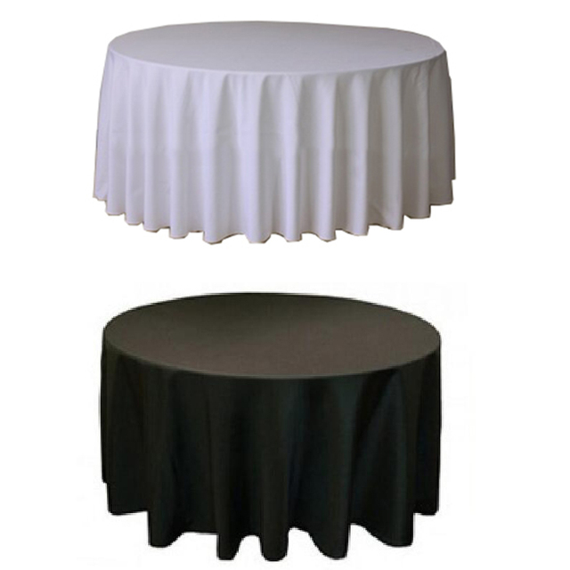 10PCS Polyester Table Cloth For Wedding Pure Color Plain Dyed 250G GSM Hotel Table Cloth Many Size And Colors Choose