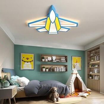 Decke Lichter Moderne Kämpfer Styling LED Decke Lampe Für Kinderzimmer Kinderzimmer Baby Zimmer Fernbedienung Leuchten