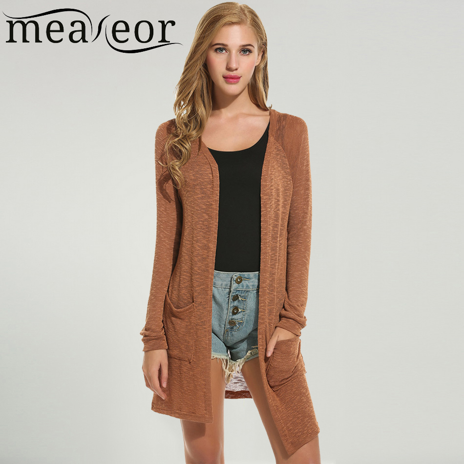 Meaneor Brand Wool Cardigan New Fashion Women Casual Translucent ...