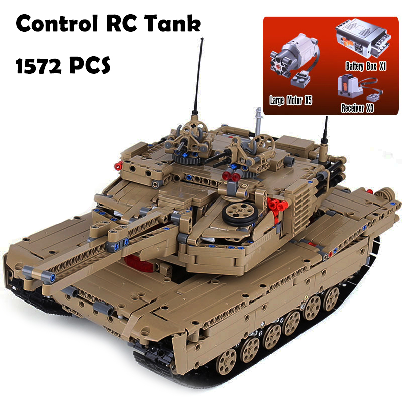 Model Building Blocks toys 20070 1572Pcs MOC Technic Remote Control RC Tank compatible with lego Military War DIY toys & hobbies 1572pcs moc technic the remote control rc tank military war assembly building block brick toy for boys christmas gift 20070