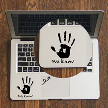 WE KNOW Hand Handprint Decal Laptop Trackpad Sticker for Apple Macbook Pro Air Retina 11 12 13 14 15 17 inch Vinyl Mac Book Skin