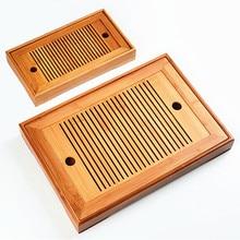 Горячая 2 размера чайный набор кунг-фу из натурального дерева бамбуковый чайный поднос прямоугольный традиционный бамбуковый пуэр чайный поднос чахай чайный столик