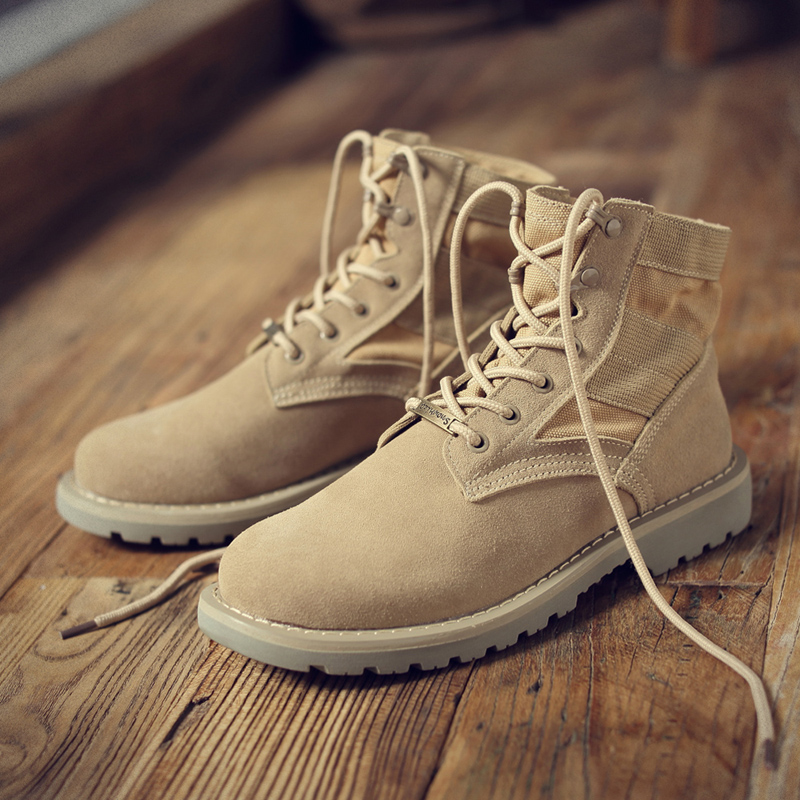 Men's Boots' Mens Ankle Desert Boot Winter Round Toe Ankle Snow Boots Men Shoes Leather Military Boots Men Combat Lace-Up Size 9 y s 2016 new mens casual desert boots mans genuine leather flat shoes adults round toe ankle chukka adults quilted boots y 100
