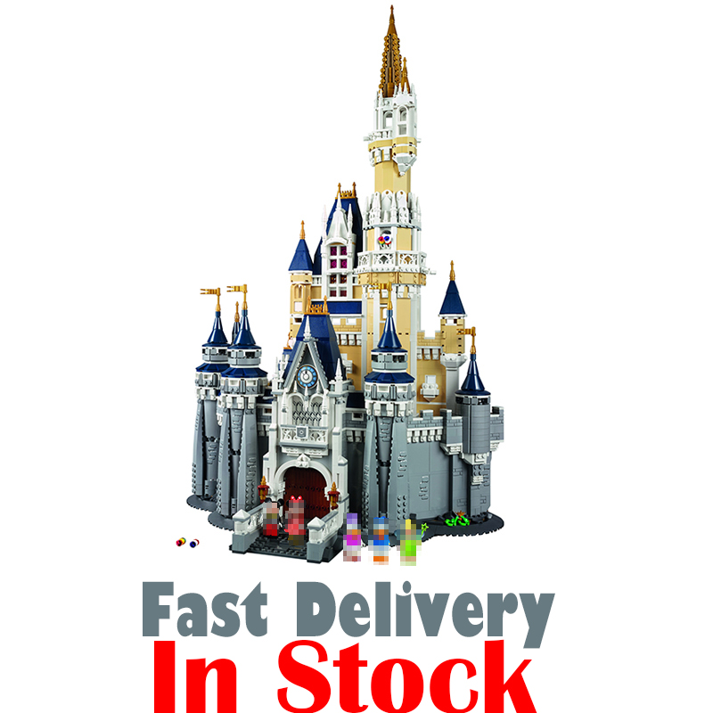 LEPIN 16008 Creative Movies The Cinderella Princess Castle Set Model Building Block Brick Educational Kid Toys For Gifts 71040 kid s home toys 70pcs set the number fruit train number paradise model large particles block brick kid toy compatible with duplo