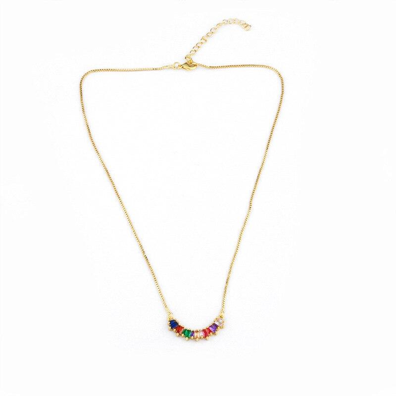 Модное ожерелье с подвеской для глаз для женщин, ожерелье с кристаллами, сексуальные персонализированные чокеры, короткая цепочка на ключицы, ювелирные изделия - Окраска металла: half round