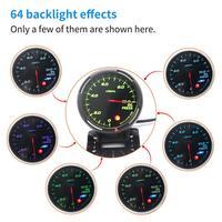 Voltmeter 2V Car 64 Color Backlight Adjustable 10Bar Pressure Gauge with Mechanical Pressure Sensor (NPT1/8) voltmeter r30