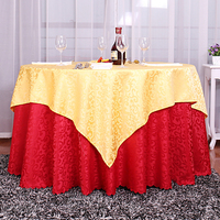 HAOCHU 2018New European Classical Round Tablecloth Wedding Party Hotel Restaurant Home Set Double Layer Color Desktop Decoration