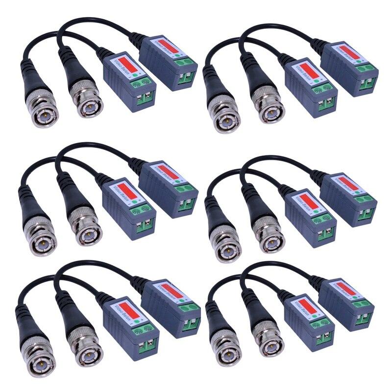 12 pcs Mini CCTV BNC Video Balun Transceiver Cable LCC77 bnc м клемма каркам