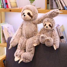 New 1pc 50/70cm Lifelike Sloth Baby Doll Sloth Plush Toys Stuffed Dolls Kids Toys Lovely Doll Girlfriend Best Gifts Brinquedos simulation sloth baby doll lifelike sloth plush toys stuffed dolls kids toys lovely doll girlfriend best gifts brinquedos ww36