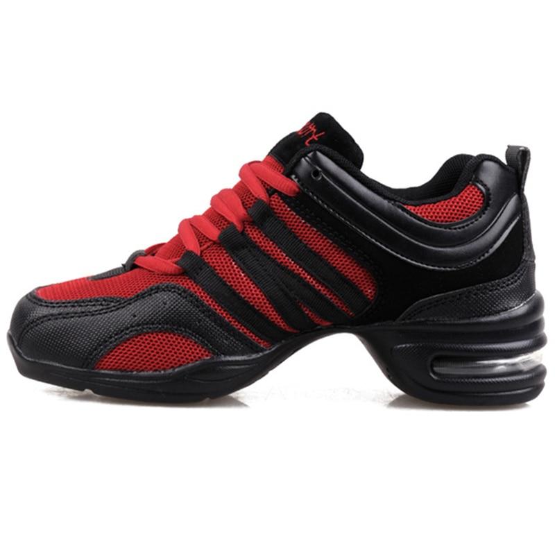 Maultby mujeres negro rojo danza Zapatos mujeres Jazz hip hop Zapatos  sneakers para mujer plataforma bailar señoras Zapatos   ds4002r en  Zapatillas de baile ... d7588b7349c