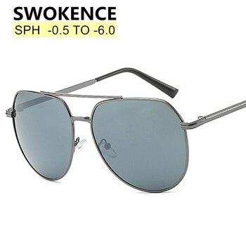 caaf86ce53 SWOKENCE anteojos de sol recetados SPH-0,5 a-6,0 miopía gafas de las ...