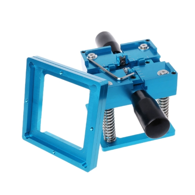 Hot Sale Blue BGA Reballing Station With Handle For 90mm x 90mm Template Holder Jig