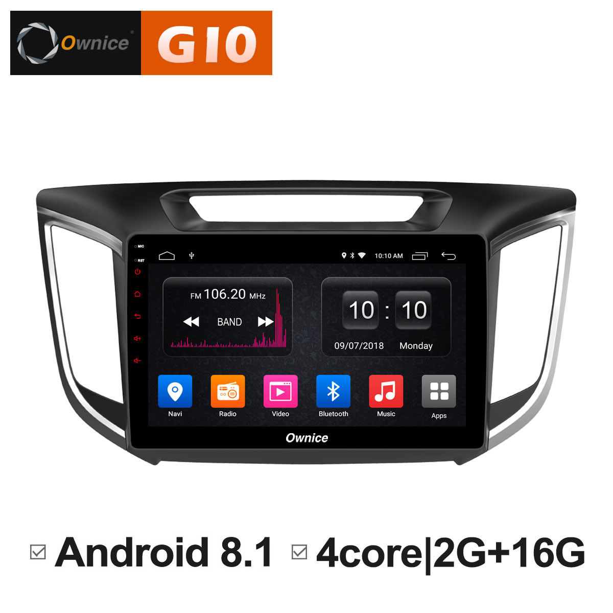 Android 8.1 Head Unit Car Pad radio DVD Multimedia Player GPS Navigator For HYUN