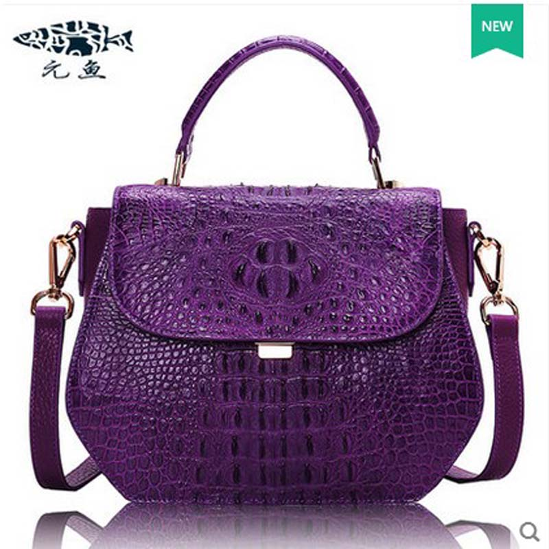 yuanyu new crocodile female bag shoulder bag leather handbag crocodile leather bag