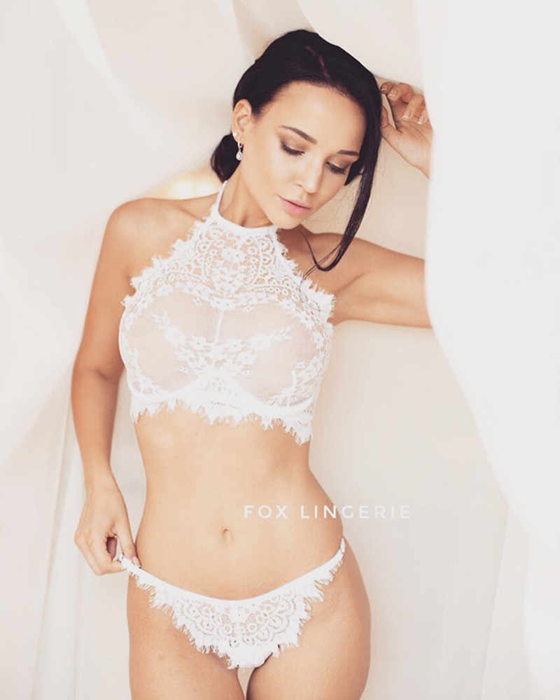 ... EA Sexy Eyelash Lace Lingerie Set Female Perspective Three-point  Temptation Sexy Lingerie Erotic Underwear 56ee88091