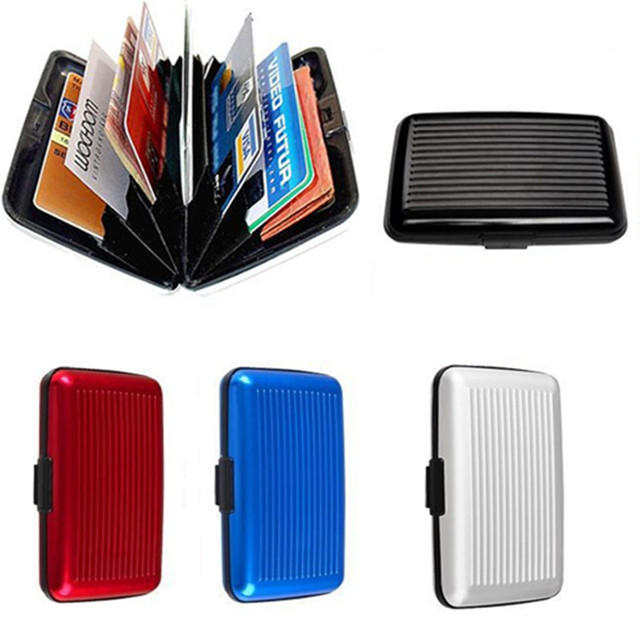 Qoong 10 pieces rfid travel card wallet aluminum business men qoong 10 pieces rfid travel card wallet aluminum business men waterproof credit card id bank card colourmoves