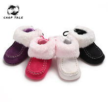 2019 Winter Sweet Newborn Baby Girls Princess Winter Boots First Walkers Soft Soled Infant Toddler Kids Girl Footwear Shoes