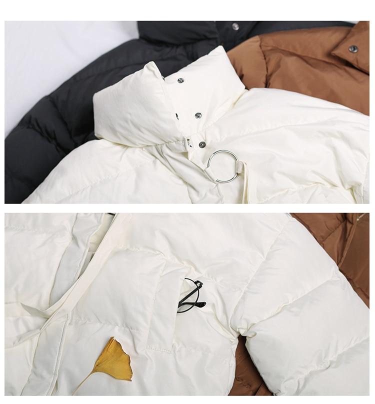 Noir À Femme Chauve souris Oversize Veste Nouveau Duvet Manches Noir Hiver blanc Beige Vert Épais En Solide Coton Manteaux camel 2017 Longues Foncé pqwZ7xXEq