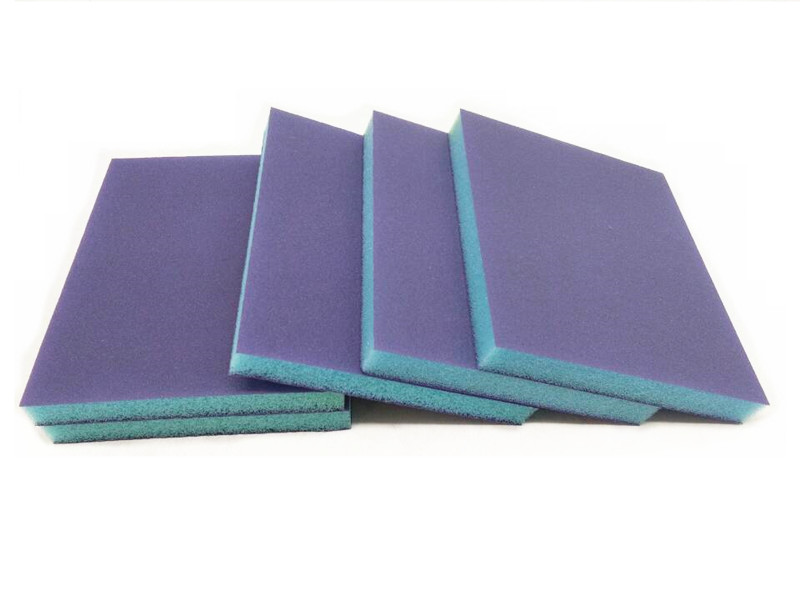 New 10pcs Dry&wet Blue Abrasive Sponge Pad Double Polishing Sponge Block P120-P1500 For Wood Furniture Wall Corner Grinding