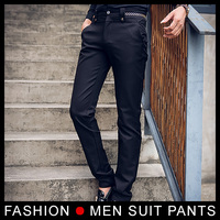 High Quality Mens Formal Dress Pant Straight Stretch Slim Fit Trousers Male Skinny Pants Business Wear