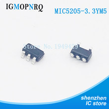10pcs/lot MIC5205-3.3YM5 3.3V LDO regulator output voltage SMD SOT23-5 new