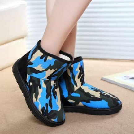 2014 new women winter padded boots thick warm Plus velvet sonw boots fashion plat Camouflage rubber sole martin boots