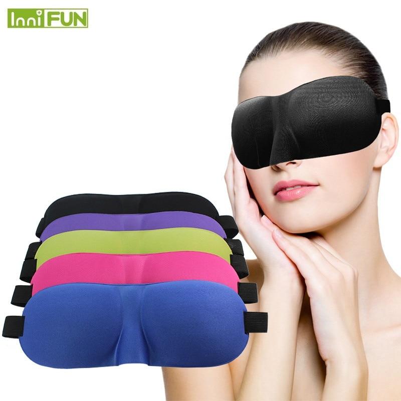 Travel Sambo 3D Eyeshade Travel Soveøjen Mask Black Shade Breathable - Sundhedspleje - Foto 2