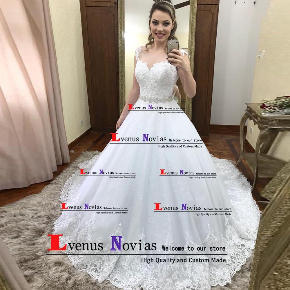 vestido de noiva Custom Made Wedding Gowns High Quality White Lace Backless Boho Wedding Dress 2019 Bride Dresses robe mariage Платье