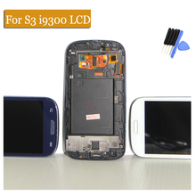 S3 i9300 LCD Compatible for Samsung Galaxy S3 i9300 LCD Touch screen Digitizer Display Assembly With Frame