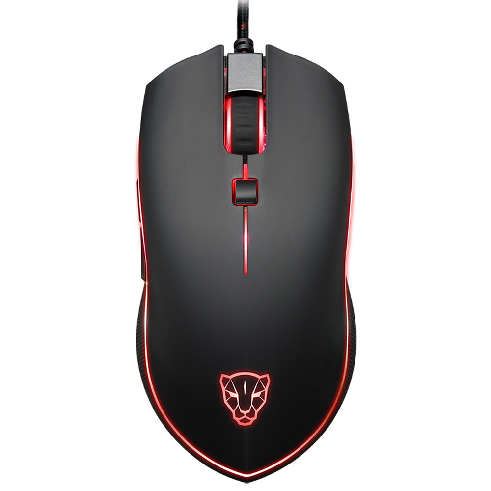 Motospeed V40 Gaming Mouse Mice Ergonomic Optical Professional Esport Adjustable 4000 DPI Breathing LED Light USB Wired 6 Button