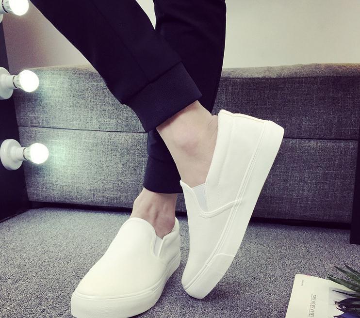 Pure color lazy men canvas shoes han edition old Beijing cloth shoes G017Pure color lazy men canvas shoes han edition old Beijing cloth shoes G017