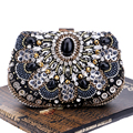 Vintage Embroidery Beaded Women Evening Bags Chain Shoulder Handbags Messenger Party Rhinestones Day Clutches Purse/Wallets