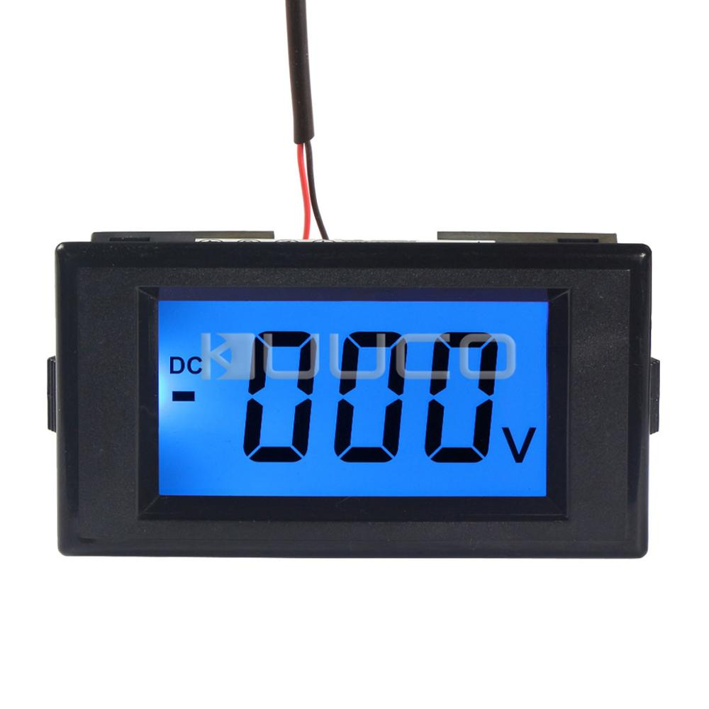 Ac Dc Voltmeter : Digital voltmeter dc v blue backlight lcd display