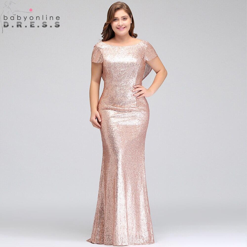Manches Robe Demoiselle Or De Champagne Soirée Rose D'honneur Plus tsQrBohxCd