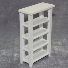1/12scale Dollhouse Miniature Furniture White Bookcase Shelving flower rack  Wood #C009