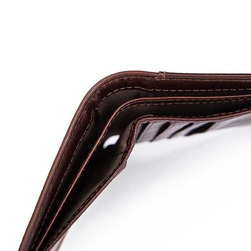 WESTAL portefeuilles en cuir véritable pour hommes porte-monnaie court avec porte-monnaie et porte-monnaie pour hommes portefeuilles en cuir pour hommes