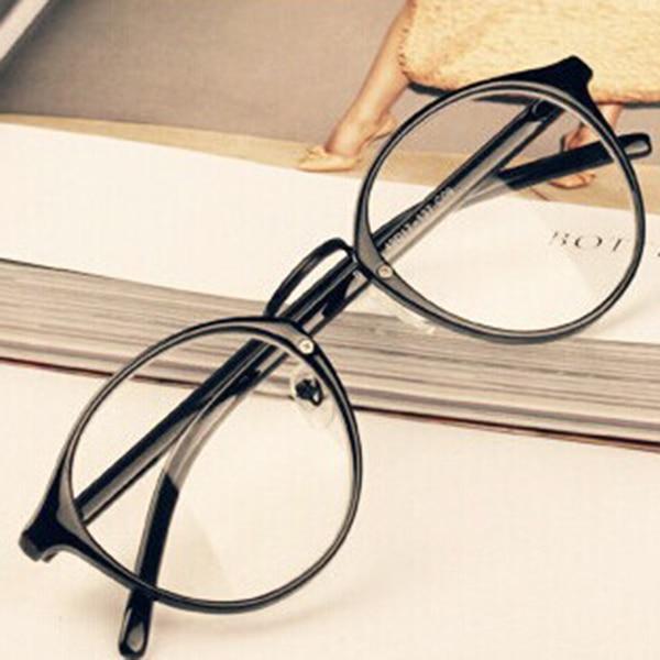 Mode Herrar Kvinnors Nördglasögon Klar Linsa Glasögon Unisex Retro Glasögon Glasögon Hot