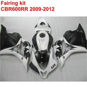 Injection ABS Fairing Kit For HONDA CBR600RR 2009 2010 2011 2012 CBR 600 RR White Black ABS Fairings Set 09 10 11 12 SZ28
