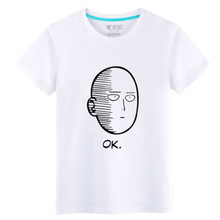 2017 Japanese Animation One Punch Man Spring&Summer wear T-shirts 100% Cotton