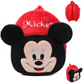O saco bonito mickey mouse dos desenhos animados mochila de pelúcia do bebê 1-3 início pequeno feliz saco de mochila