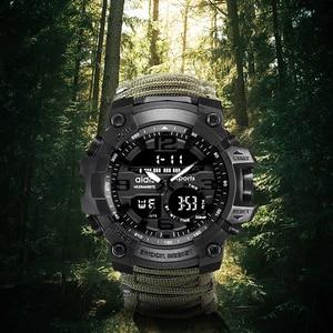 Image 3 - LED ساعة عسكرية مع البوصلة 30 متر مقاوم للماء ساعة رياضية للرجال ساعة رياضية للرجال صدمة الرياضة ساعات المعصم الإلكترونية
