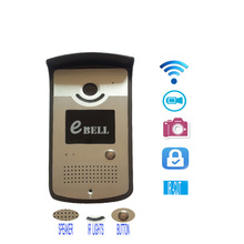 Ebell-DBV03P 720p wifi video doorbell wireless ip video door intercom support 64G TF unlock electric door lock with smartphone