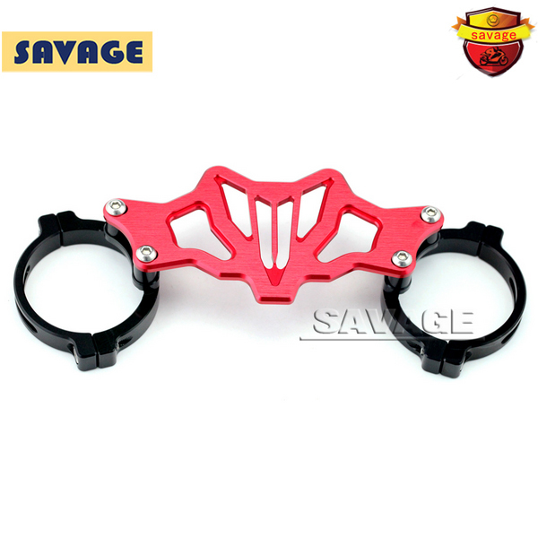 Red Motorcycle BALANCE SHOCK FRONT FORK BRACE For YAMAHA MT07 FZ07 MT-07 FZ-07 2014-2016 for yamaha mt 07 fz 07 mt07 cnc aluminum front sprocket cover motorcycle part for yamaha mt07 fz07 2014 2015 2016 100% brand new