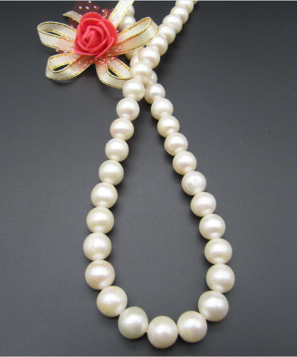 Free Shipping 003527  11- 12mm natural south sea white pearl necklace 17.5 inch 14KGP GoldFree Shipping 003527  11- 12mm natural south sea white pearl necklace 17.5 inch 14KGP Gold