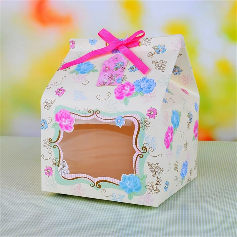 Aliexpress Buy Cake Box House Design Pack of 4 Cupcake Boxes – Card Gift Box Wedding