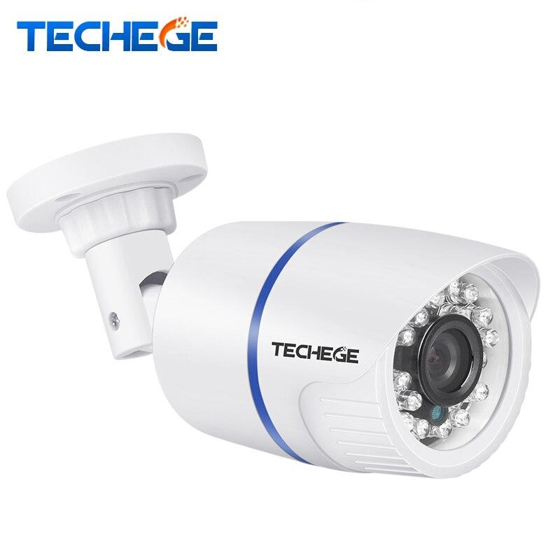 Techege 1080 p 960 p 720 p IP Caméra RTSP FTP Onvif P2P Vision Nocturne Imperméable À L'eau Extérieure De Détection De Mouvement DC 12 v ou 48 v PoE En Option