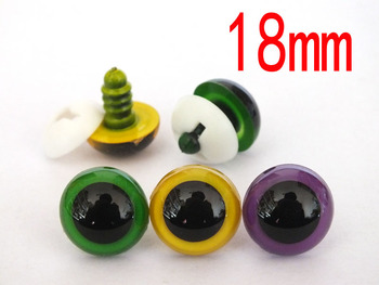 Wholesale 60pcs/30Pairs 18mm Color Plastic Safety Eyes For Teddy Bear Stuffed Toys