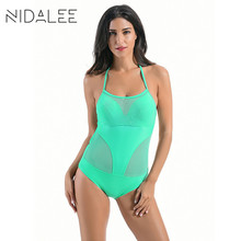 NIDALEE One Piece Solid Plus Size Swimwear Brasileiro Swimwear Women Sexy  Swimwear Female One Piece Bathing Suits For Women