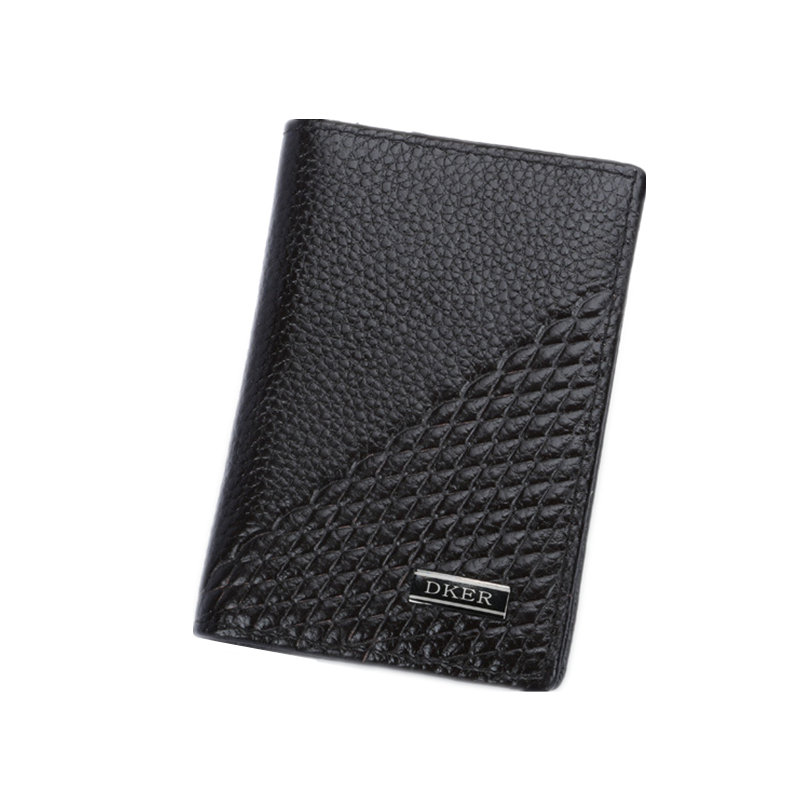 Fashion Genuine Leather Men Card Holder Cow Leather Card ID Holders Business Bank Card Holder Minimalist Wallet for Credit Cards thinkthendo new male genuine cow leather wallet card package retro woven passport business cards holder